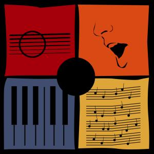 illustrated logo art for Bill Berry's Songwriter's Square